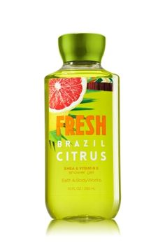 Fresh Brazil Citrus - Shower Gel - Signature Collection - Bath & Body Works - Wash your way to softer, cleaner skin with a rich, bubbly lather bursting with fragrance. Moisturizing Aloe and Vitamin E combine with skin-loving Shea Butter in our most irresistible, beautifully fragranced formula!