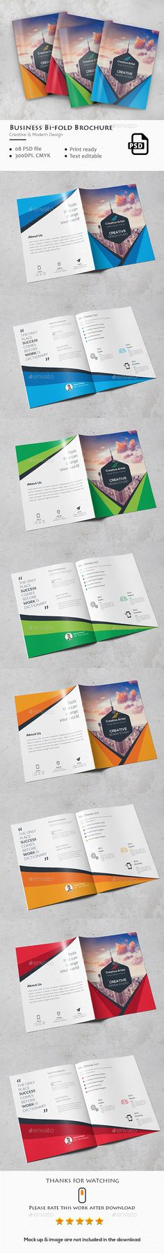 Bi Fold Brochure 25 Brochure Template Brochures And Fonts