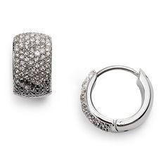 Ombre Glitz Huggie Earrings