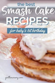 When making your babys first smash cake you want to make sure it has the healthiest ingredients possible. If you want to DIY your babys smash cake I've included 20 healthy smash cake recipes to make on your own. If your looking to make a cake for your babys first birthday you will definitely find the best smash cake recipes over on my blog. Easy healthy baby cake recipes for every mom. #firstbirthdayideas #smashcake #healthysmashcake Baby Led Weaning First Foods, Baby First Foods, Smash Cake Recipes, Frosting Recipes, First Birthday Cakes, Birthday Ideas, Baby Cake Smash, Healthy Freezer Meals, Traditional Cakes