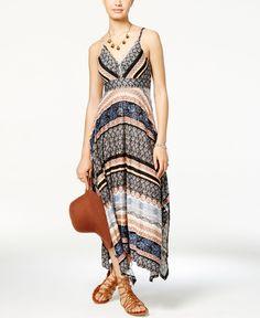 American Rag Printed Handkerchief-Hem Maxi Dress, Only at Macy's