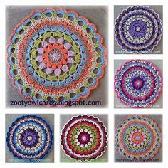 Dahlia Mandala - Free crochet pattern by Zelna Olivier Crochet Mandala Pattern, Crochet Circles, Crochet Motifs, Crochet Squares, Thread Crochet, Crochet Doilies, Crochet Stitches, Crochet Patterns, Granny Squares