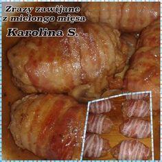 CO MI W DUSZY GRA: ZRAZY ZAWIJANE Z MIELONEGO MIĘSA Food Garnishes, Polish Recipes, Gra, Good Food, Food And Drink, Cooking Recipes, Keto, Decoupage, Meat