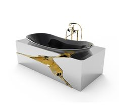 Seen a #bathtub like this before ? Bring an art piece into the #bathroom while upgrading with #Luxury