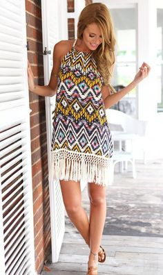 Lovely Aztec Print Print Comfy Dress 2015 Collection Style