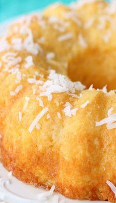 Pineapple Coconut Bundt Cake Recipe