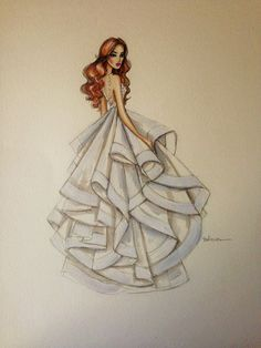 Bridal custom fashion illustration/wedding by loveillustration