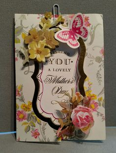 Made with products from Anna Griffin Flip Card kit and leftovers from other kits, by Christa Trude