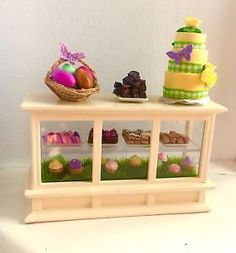 1/12 Scale Miniature Easter Bakery Counter  | eBay