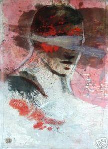 Ignacio Burgos - Cabeza Roja 2 - Original Signed Painting