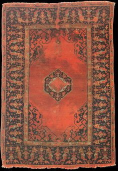 Small medallion Ushak rug, 17th century, John D.McIlhenny Collection. Philadelphia Museum of Art. inv. no: 43-40-60