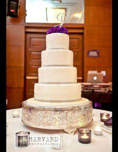A simple but elegant buttercream wedding cake
