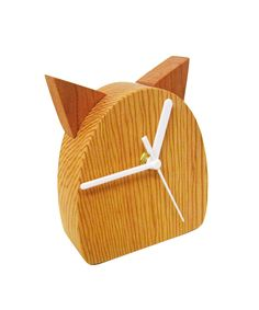 cat whiskers clock, all natural wood, handmade and available at www.dotandbo.com