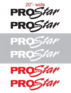 "2pcs 20""wide PROSTAR Vinyl Sticker Decal Graphic INTERNATIONAL SEMI TRUCK #Oracal"