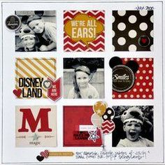 Scrapbook Layout Simple Project Life - Simple Stories SNAP Studio Collection Photo Crops Square and Rectangle Disney Scrapbook Pages, Scrapbook Sketches, Scrapbook Page Layouts, Scrapbook Cards, Couple Scrapbook, Kids Scrapbook, Scrapbook Templates, Photo Layouts, Travel Scrapbook