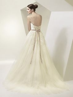Back of BT14-28 Wedding Dress - Beautiful by Enzoani 2014 Bridal Collection