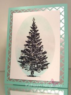 Stampin' Up! special season; Whisper White and Coastal Cabana card stock; Winter Frost Designer Series paper; Pool Party, Basic Grey, Bermuda Bay and Jet Black StazOn inks; Stamping sponges and Rhinestones.