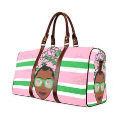 Etsy :: Your place to buy and sell all things handmade Black Girl Magic, Black Girls, Sorority Gifts, Aka Sorority, African American Beauty, Automatic Umbrella, Luggage Cover, Waterproof Fabric, Green Stripes