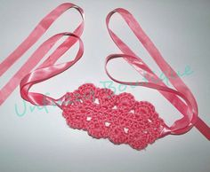 Easy Ribbon Ties crocheted headband- free pattern
