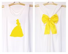 Belle Beauty and the beast Disney Princess Tank Premium with Bow : Workout Shirt - Tank Top - Razor Back Tank - Princess tank - Bridal party by DollysBow on Etsy https://www.etsy.com/listing/223123978/belle-beauty-and-the-beast-disney