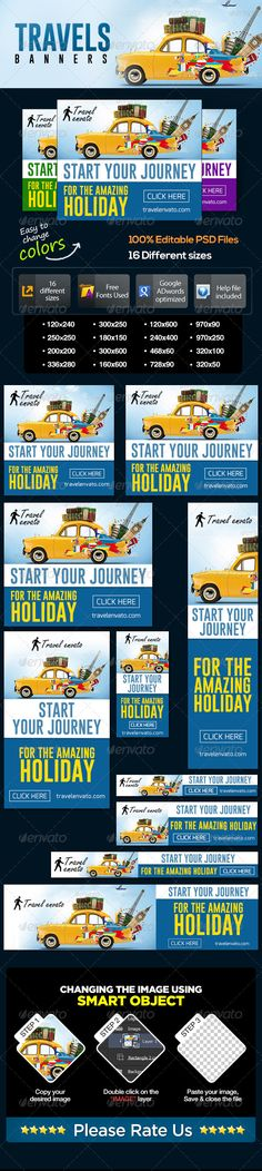 Travel Web Banner Set Template PSD | Buy and Download: http://graphicriver.net/item/travel-banner-set/7076546?WT.ac=category_thumb&WT.z_author=BannerDesignCo&ref=ksioks