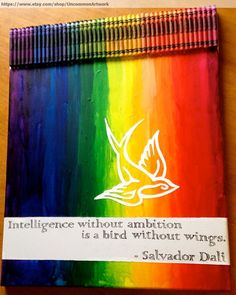 Melted Crayon Art - Intelligence - Melted Crayon Art - Intelligence. I Wouldn't Have The Patience Or Artistic Ability To Do This, But It's Really Cool!!