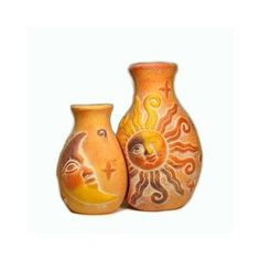 Rustic Two Piece Sun / Moon Vase, 7