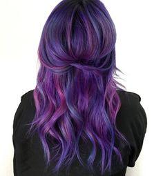 Purple Hair #purplehair #haircolour #hairstyle