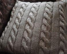 Hekta på strikk: Flett-i-flett pute