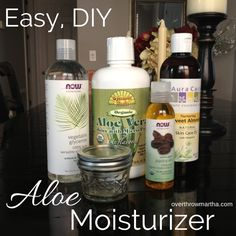 Easy, DIY Aloe moisturizer is great for all kinds of skin problems #acne #wrinkles #dryskin
