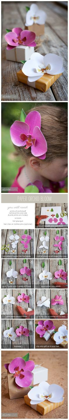 I can use the templates for these pretty paper orchids to make fondant orchids!