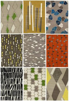 Judy Ross Rugs - These are rugs!?!? Flipping out over here never you mind. (But the black/neutral one in the lower left? Right???) #Rugs #Abstract