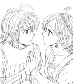 Elizabeth Seven Deadly Sins, Seven Deadly Sins Anime, 7 Deadly Sins, Pictures To Draw, Some Pictures, Sword Art Online Drawing, Meliodas And Elizabeth, Seven Deady Sins, 7 Sins