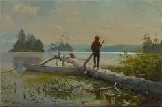 https://flic.kr/p/ErcEQH | Winslow Homer - The Trapper [1870] | [Colby College Museum of Art, Waterville, Maine - Oil on canvas, 48.47 x 74.83 cm]