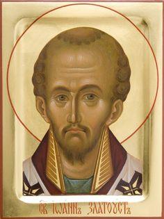 St John Chrysostom - St Elisabeth Convent - Visit our website to get more information - #CatalogOfGoodDeeds #OrthodoxIcons, #Eastern #Orthodoxy, #Handpainted #Saint, #Miracle, #Blessed #Faith, #John #Chrysostom