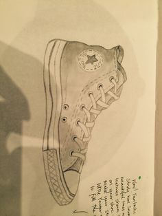 My drawing of a converse shoe