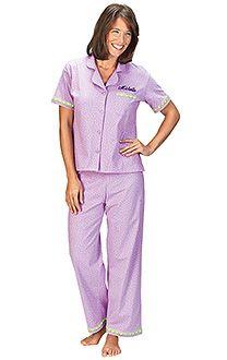 Oh-So-Soft Pajamas - Lavender Short Sleeved & More | PajamaGram