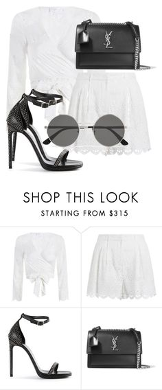 """Sem título #2278"" by mariandradde ❤ liked on Polyvore featuring Zimmermann, Yves Saint Laurent, saintlaurent and yvessaintlaurent"
