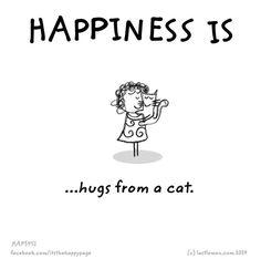 happiness is cute cat Crazy Cat Lady, Crazy Cats, Neko, Gatos Cats, Super Cat, All About Cats, Cat People, Cat Quotes, Beautiful Cats