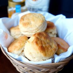These simple biscuits are light, flaky, and with a distinctive honey butter flavor. They're perfect when slathered with cinnamon butter!