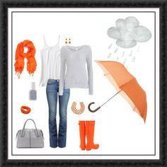 Color for a rainy day, loving orange these days!