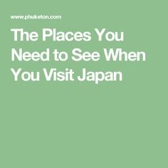 When you visit Japan you are in for a treat. This small Asian country is one of the most advanced and industrialized places on earth, but it is also one of the most historically interesting you will ever visit. Visit Japan, Packing List For Travel, Asia Travel, Places, Lugares