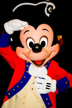 Mickey Mouse ~ A salute to America, one nation under God