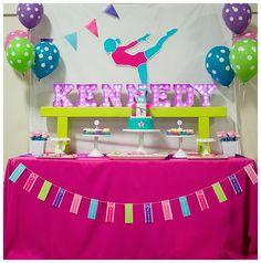 Girl's gymnastics birthday party