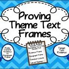 You'll find two easy-to-use frames to help your students propose and support a theme in any text. The format is a breeze to follow, and the paragra...
