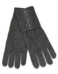 William Sharp Cashmere and Swarovski crystal gloves.