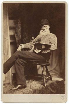 Artist William Morris Hunt (1824-1879) - photograph by J.W. Black & Co., Boston - c. 1879