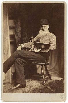 Artist William Morris Hunt (1824-1879) - photograph by J.W. Black & Co., Boston - c. 1879