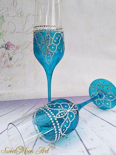 Copas para boda azul copas de champagne flautas champagne