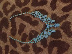 Blue+Jeweled+Statement+Chunky+Bubble+Necklace+by+HBrooke22+on+Etsy,+$15.00